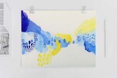 Purple, Blue and Yellow Abstract Art Print by Adri Luna (20.00 USD)
