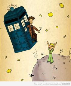 The Little Prince meets Doctor Who. I didn't know other people actually knew about the Little Prince! I used to watch this movie as a kid ALL the time. :)