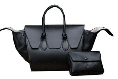 Celine Tie Nano Top Handle Bag Original Leather C3052 Black -  369.00 Celine  Handbags e78fafd7504eb