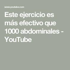Este ejercicio es más efectivo que 1000 abdominales - YouTube