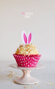 Peter Cottontail Toasted Coconut Easter Cupcakes » How cute!