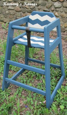 kammyu0027s korner restaurant high chair makeover chevron