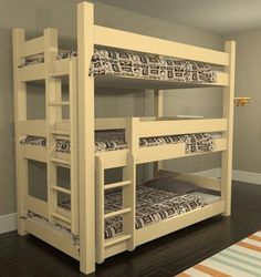 Where can I find someone who makes custom bunk beds? We make custom bunk beds of all sizes, including kings and queens. Custom Bunk Beds, Cool Bunk Beds, Bunk Beds With Stairs, Kids Bunk Beds, Loft Beds, Loft Spaces, Small Spaces, Small Rooms, Triple Bunk Beds