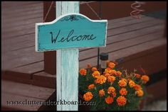 Cluttered Corkboard: DIY Welcome Post Sign