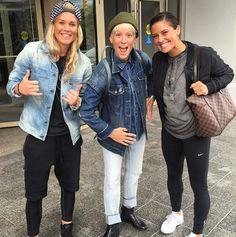 Ashlyn Harris, Megan Rapinoe, Ali Krieger, exploring NYC. (Instagram)
