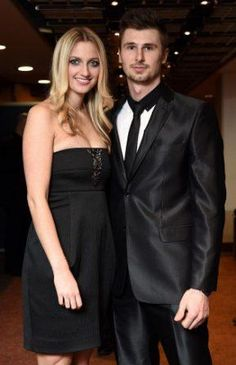 Petra Kvitova with boyfriend Radek Meidl