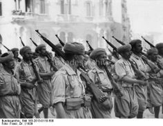 Spanish Moroccan Regulares on march, 1939. Loyal to Franco, the Nationalist Army of Africa under Franco's command was vital to the Nat...