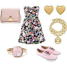 girly doesn't have to mean heels! dress is only $20 bucks!    created by chasity-paige-chatt on Polyvore