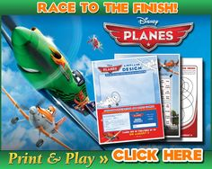 Disney Planes Activity Printables - Race To The Finish - Click and Play #disneyplanes