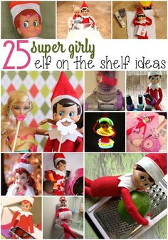 Elf on The Shelf is a fun way to countdown to Christmas. I have a daughter who doesn't have army men or legos, so I needed Elf on The Shelf Ideas for Girls. Bathroom Towel Storage, Bathroom Towels, Creative Ideas, Basement Bathroom, Club, Shelves, Holiday Decor, Army Men, Diy