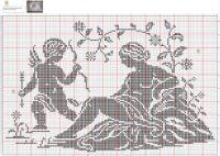 Gallery.ru / Фото #134 - 1 - gabbach Cross Stitch Designs, Cross Stitch Patterns, Crochet Patterns, Wolf, Cross Stitch Angels, Crochet Angels, Filet Crochet, Belle Epoque, One Color