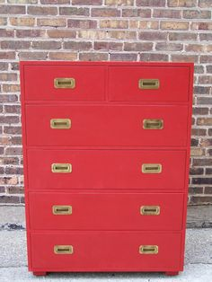 refurbished vintage highboy dress in lipstick red... it was sold on etsy, but what an awesome dyi for a solid piece that needs a new life