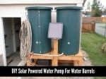 DIY Solar Powered Water Pump For Water Barrels