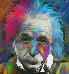 Einstein - watercolor LSD