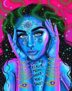 Trippy Drawings, Psychedelic Drawings, Art Drawings, Arte Indie, Psychadelic Art, Alien Art, Hippie Art, Dope Art, Animation