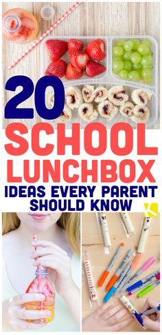 20 School Lunchbox Ideas Every Parent Should Know - Pack your elementary, middle-school and high-school kids healthy snacks and lunches with these easy ideas! Kids Lunch For School, After School Snacks, School Lunches, Kid Lunches, Diy School, School Hacks, Toddler Meals, Kids Meals, Toddler Food