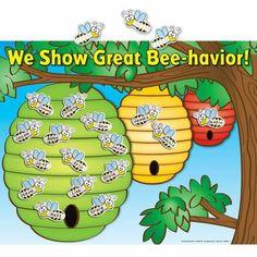 We Show Great Bee-havior Poster Magnet Set Classroom Behavior Chart, Student Behavior, New Classroom, Classroom Displays, Kindergarten Classroom, Classroom Themes, Classroom Organization, Behavior Plans, Preschool Behavior Charts