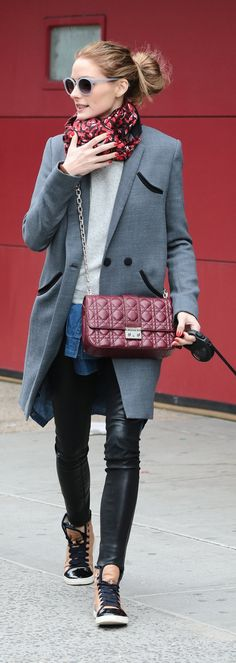 Olivia Palermo street style|Celebrity Style Tips Spring 2015 - Today's Style Secret - Harper's BAZAAR Estilo Olivia Palermo, Olivia Palermo Street Style, Olivia Palermo Outfit, Olivia Palermo Lookbook, Olivia Palermo Winter Style, Look Fashion, Winter Fashion, Fashion Show, Net Fashion