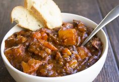 Tomato Beef Stew is an easy weeknight spin on a classic stew that's full of flavor! This semi-homemade recipe is total comfort food and will make your house smell amazing! Beef Recipes, Soup Recipes, Cooking Recipes, Recipies, Shake Recipes, Family Recipes, Easy Dinner Recipes, Great Recipes, Dinner Ideas