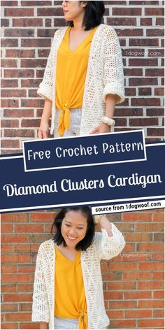 50 Best Crochet Cardigan Patterns (Design & Ideas) For 2021 Crochet Jacket Pattern, Crochet Shawl, Free Crochet, Knit Crochet, Crochet Patterns, Crochet Stitches For Beginners, Types Of Dresses, Cool Patterns, Cardigans