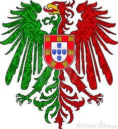 Illustration about Portuguese eagle with logo for flag design. Illustration of patriot, flag, badge - 14946723