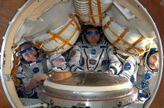Year-in-Space Astronaut Scott Kelly Packs for Home But Skips Souvenir --  NASA astronaut Scott Kelly (left) and Roscosmos cosmonaut Mikhail Kornienko (right) are set to land back on Earth after nearly a year in space, returning together with cosmonaut Sergey Volkov on March 1, 2016.