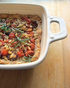 Tomato-rosemary-pinetree seed-pie