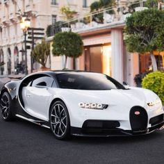 Yin and yang. A gorgeous Bugatti Chiron. What Bugatti would you guys want? by Of Cars Bugatti Veyron, Bugatti Cars, Lamborghini Cars, Ferrari Car, Exotic Sports Cars, Cool Sports Cars, Exotic Cars, Sport Cars, Top Luxury Cars
