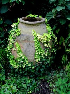The simplicity of an ivy-covered urn and more ideas from Inspiring Gardens of the Brandywine Valley ~ http://ourfairfieldhomeandgarden.com/inspiring-gardens/