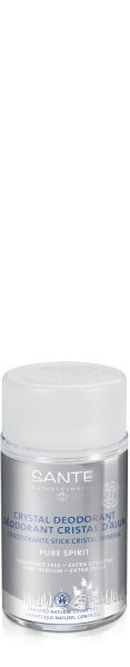 Sante Crystal Deodorant Stick works naturally to delay the growth of odor-causing bacteria without interfering with the normal function of the sweat glands and pores. This organic deodorant stick is particularly appropriate for sensitive skin.