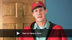 DIY video: How to Hang a Door. Learn how to remove a door and hang a new door (or replace the old one).