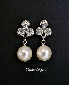 Rhinestone Bridal Earrings Bridesmaid Earrings by Element4you, $16.50