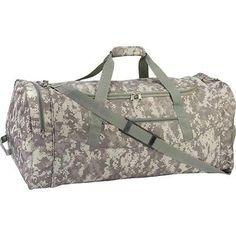 "Digital Camo 30"" Tote Bag Hunting Duffle Storage Sports Equipment Travel Luggage"