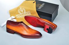 2018 New Mens Luxury Shoes : 2018 Special Edition TucciPolo Burnished Tan Wholecut Prestigiously Handcrafted Luxury Goodyear Welted Oxford Italian Leather Mens Shoes Italian Leather Shoes, Italian Shoes, Royal Blue Shoes, Robin, Men's Shoes, Dress Shoes, Mode Man, Custom Made Shoes, How To Make Shoes