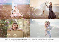 Rainbow Bubbles Photo Overlays – Kimla Designs