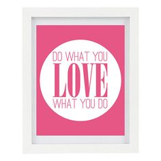 Do What You Love Inspirational Print by ColourscapeStudios on Etsy