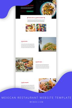 WebDo - The All-In-One Website Design Solution. Use the mexican restaurant website template to create your website today.