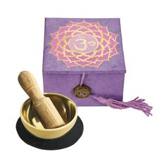 Handcast and hand tuned, the mini meditation bowl is crafted by skilled artisans in Kathmandu, Nepal. The box is made with Himalayan lokta paper; a sustainably harvested, tree-free eco paper.  A …