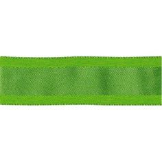 May Arts Solid Wired Ribbon W/Woven Center 1-1/2X25yd-Parrot Green - Parrot Green