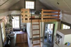 A small cabin in McHenry, Maryland at Blue Moon Rising. This is darling...I just hate the ladder to the loft.