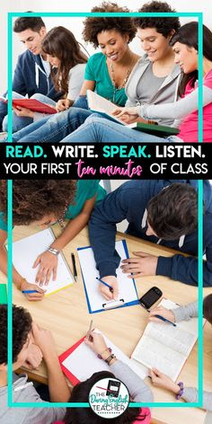 Engage Your Students in the First Ten Minutes. Here is how I start my high school English class each and every single day. Middle School Ela, Middle School English, Teaching Language Arts, Teaching English, Student Reading, Teaching Reading, Classroom Routines, Ela Classroom, English Classroom