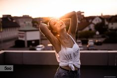 On the rooftops by Pascalé Domenico  on 500px www.facebook.com/weltausmeinenaugen  #photographer #Lifestyle #portrait #35m #sigma #sony