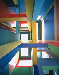 Krijn de Koning, CMU Rietveld, Utrecht 1999. Créée in situ par l'artiste néerlandais pour un ancien hôpital psychiatrique, cette œuvre va disparaître lors de la rénovation du bâtiment en juillet 2015.