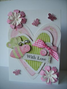 With Love Card  Gift Boxed by AuntyJoanCrafts on Etsy, £3.50