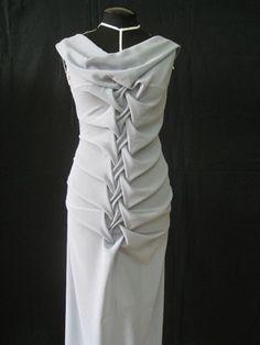 Fabric Manipulation - smocked dress design; draping; smocking; creative pattern cutting; sewing inspiration by carlene