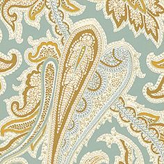 WINCHESTER PAISLEY, Teal, T3359, Collection Fairfax from Thibaut