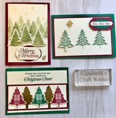 Ready Set Demo from Elizabeth's Craft Room : Autumn winter creations Ready Set Demo von Elizabeth Craft Room: Herbst-Winter-Kreationen Homemade Christmas Cards, Christmas Tree Cards, Stampin Up Christmas, Xmas Cards, Homemade Cards, Handmade Christmas, Holiday Cards, Christmas Diy, Christmas 2019