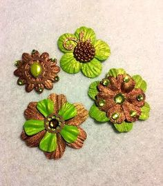Neon Steampunk  OOAK Neon Green Copper and by KaleidoscopeHearts, $6.00