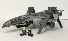 Space Ship Concept Art, Concept Ships, Lego Spaceship, Spaceship Concept, Big Lego, Cool Lego, Lego Aircraft Carrier, Nave Lego, Lego Memes