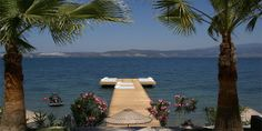 Med-Inn in Gulluck, Bordrum Peninsula, Turkey: laid-back beach hotel with pool, jetty and large colourful rooms, 40 minutes from Bodrum. Beach Hotels, Beach Resorts, Turkey Hotels, Bistro Restaurant, Best Boutique Hotels, Hotel Pool, Holidays With Kids, Cool Pools, Hotel Reviews